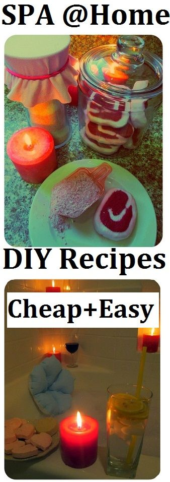 Spa at Home with Homemade Natural Products (w/recipes): Homemade Bath Salts, Homemade Bath Bubble Bars, Bath Bombs and Bath Melts.