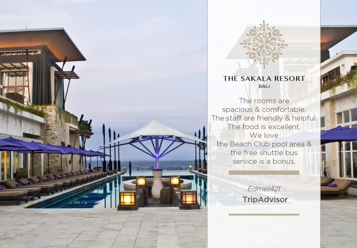 Thank you, Edmel421, for choosing to stay with us and sharing the highlights of your stay. We at #TheSakalaResortBali are looking forward to welcoming you back!  #TheSakalaResortBali #SakalaBeachClub #SakalaBali #Bali