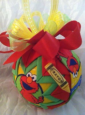 Sesame Street Elmo Christmas Quilted Ornament by ncgalcreations, $18.00