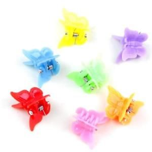 25pcs Mixed Color Plastic Butterfly Mini Hair Claw Clips Clamp for Kids#  | eBay