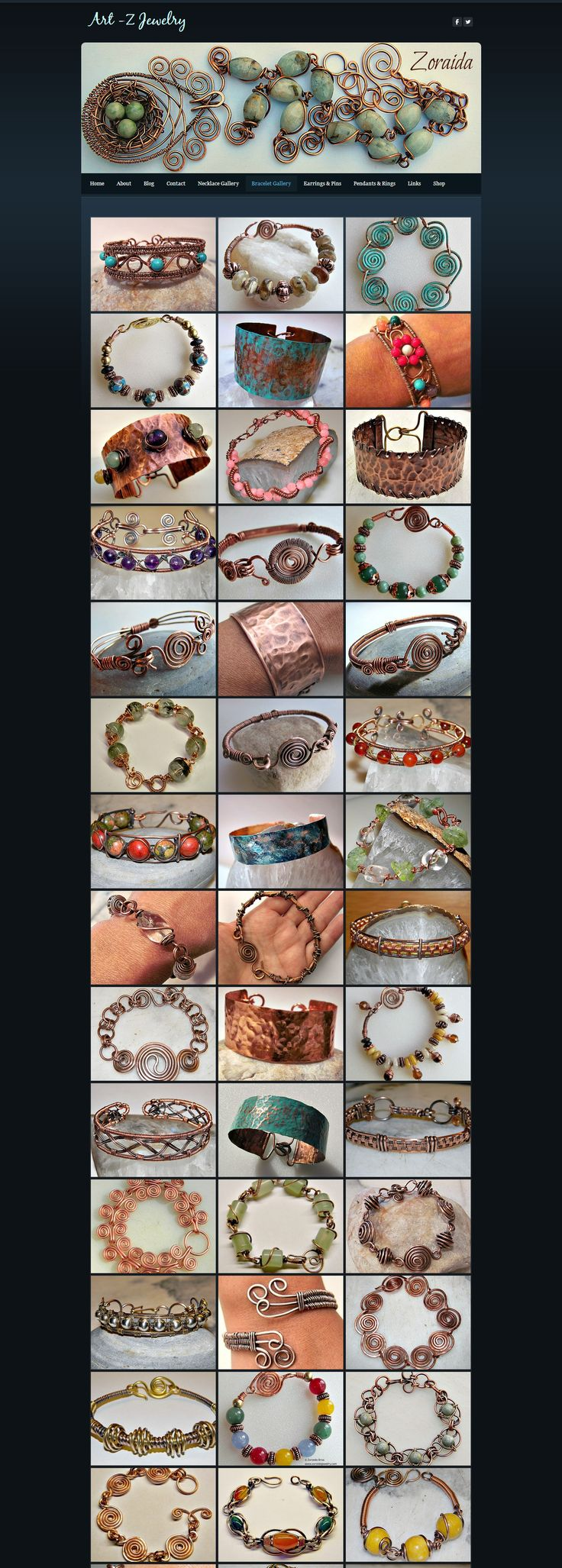 Art-Z Jewelry - Wire Work Bracelets (pictures - page 1) I want to go make some bracelets now!