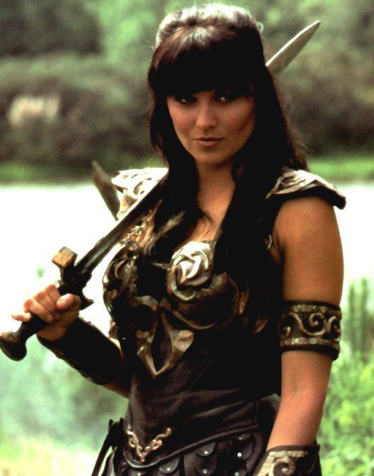 Xena-I loved her, and screamed her battle cry through the streets of ECU on Halloween night, dressed as a bear.