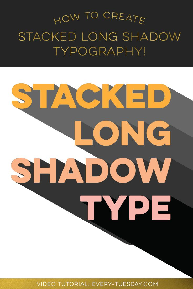 Design large banner in illustrator - Create Stacked Long Shadow Typography