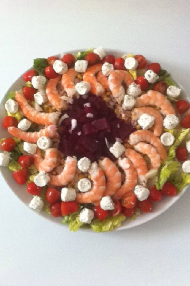 petite entr e facile salade crevette fromage boursin