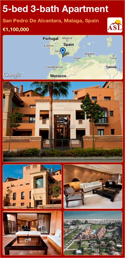 5-bed 3-bath Apartment in San Pedro De Alcantara, Malaga, Spain ►€1,100,000 #PropertyForSaleInSpain