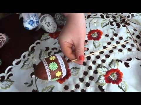 Moje pisanki Wielkanocne decoupage inspiracje / Easter eggs - YouTube