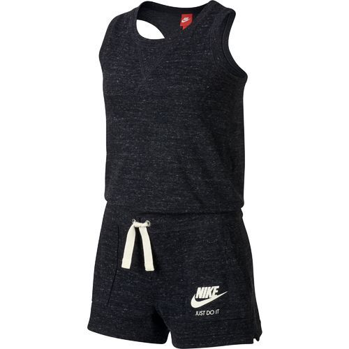 Nike Girls' Sportswear Vintage Romper (Black/Sail, Size Medium) - Girl's Apparel, Girl's Athletic Shorts at Academy Sports
