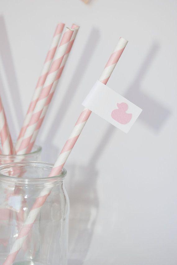 Cannucce di carta con bandierina, paper straws on Etsy, 6,00€
