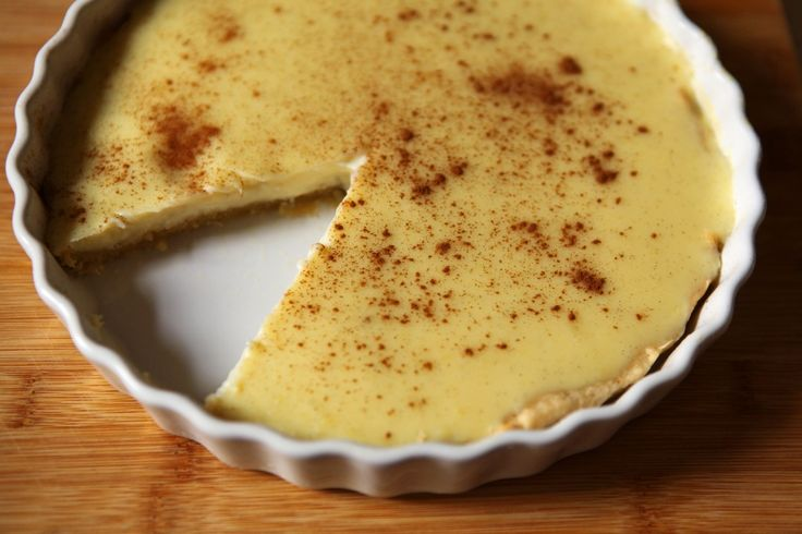 """Proudly South-African... Melktert - Meaning """"milk tart"""" in Afrikaans, is a South African dessert. It is a sweet pastry crust containing a creamy filling made from milk, flour, sugar and eggs. The ratio of milk to egg is higher than in a traditional European custard tart or Chinese egg tart, resulting in a lighter texture and a stronger milk flavour. Cinnamon is often sprinkled over its surface."""