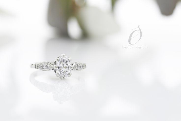 Palladium engagement ring