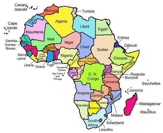 Africa Map with Countries Labeled Learn more about Africa at: www ...