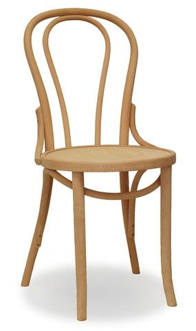 Neutral Dining Chair Alternative   Bon Uno Bentwood Dining Chair In Natural  With Timber Seat.