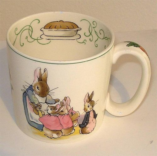 wedgwood original peter rabbit mug pattern no cm6466 1940 1959 ebay sp cial enfants. Black Bedroom Furniture Sets. Home Design Ideas