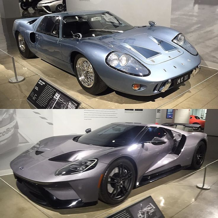 Ford GT40 and GT - I love how the design has carried forward from the first concept to the current model. Probably my most favorite Ford ever. #fordgt #ford #petersenmuseum by hailtothe_king