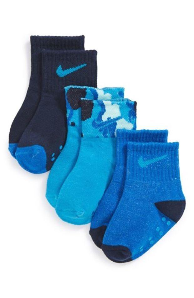 Toddler Boy S Nike Camo Cuff Gripper Socks 3 Pack