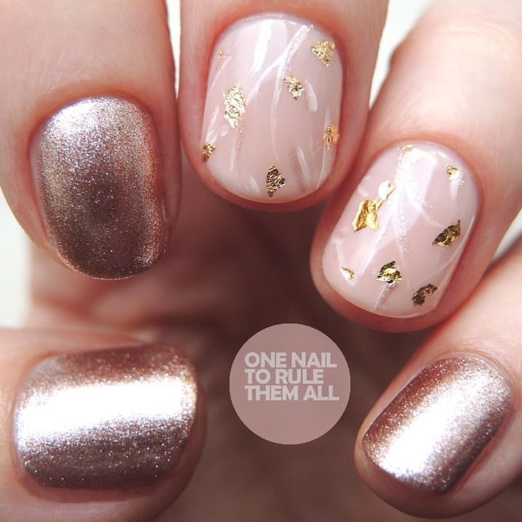 Rose Gold Nail Glitter: Best 25+ Rose Gold Glitter Nails Ideas On Pinterest