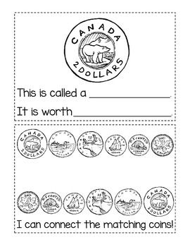Canadian Coins: Student Activity Booklet {12 pages once assembled}