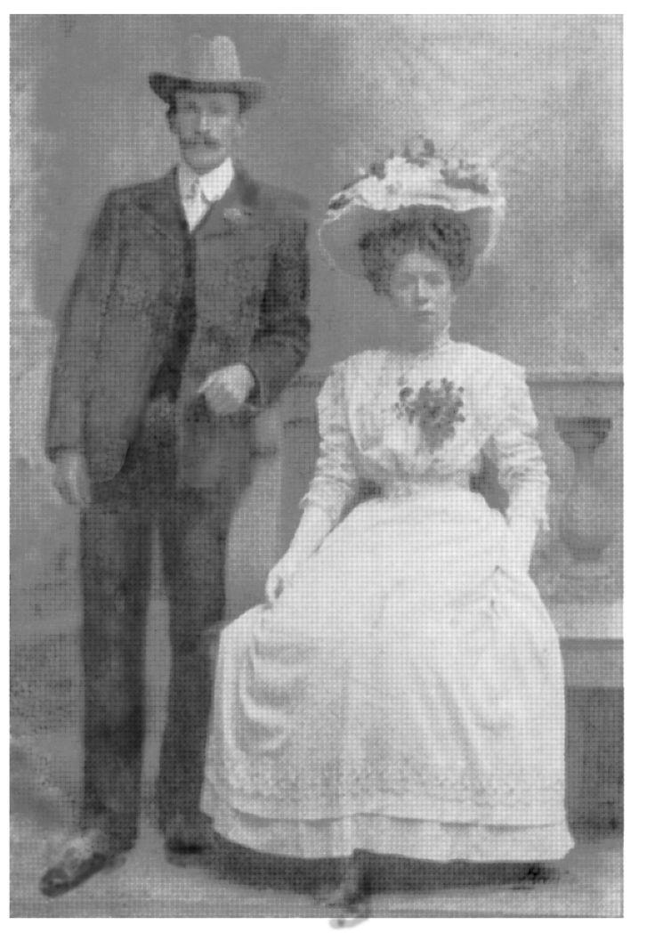 Tom & Mary Pratt's wedding photo taken in about 1910