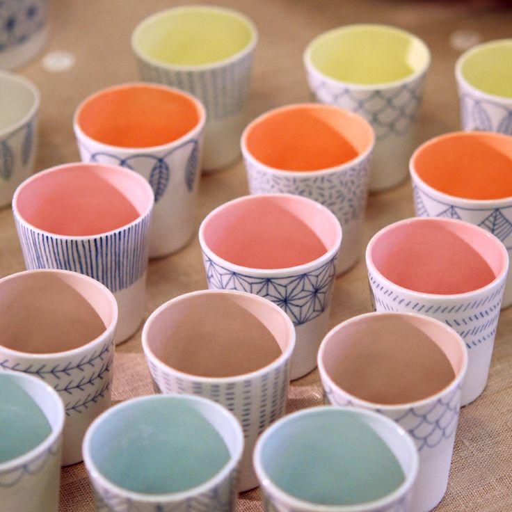 Godets - porcelaine atelier Halo - photographie Virginie Sannier