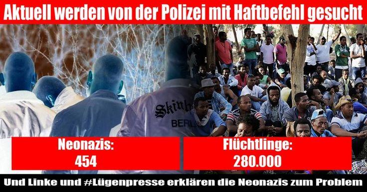 Lügenpresse macht 454 Haftbefehle gegen Rechte zum Problem und verschweigt 280.000 gegen Flüchtlinge