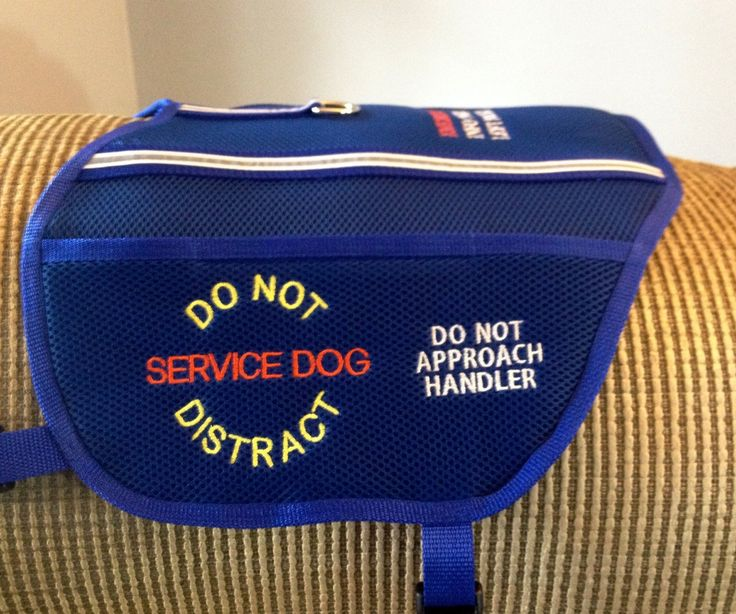 Custom embroidered service dog vest handmade to fit your