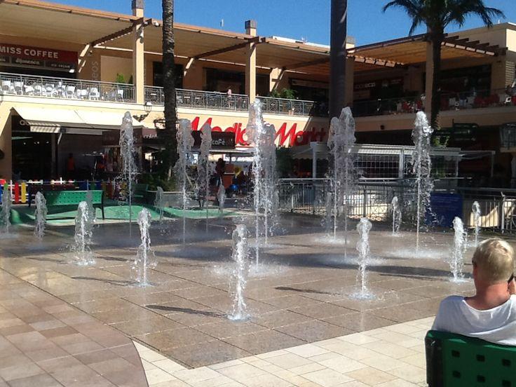 Fountains in la Zenia shopping centre