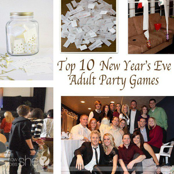 Holiday fun. Top 10 New Year's Eve Adult Party Games