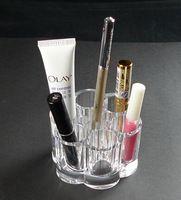 Transparente Acrílico Crystal cosmética organizador titular de cepillo cosméticos del maquillaje Caja de almacenamiento
