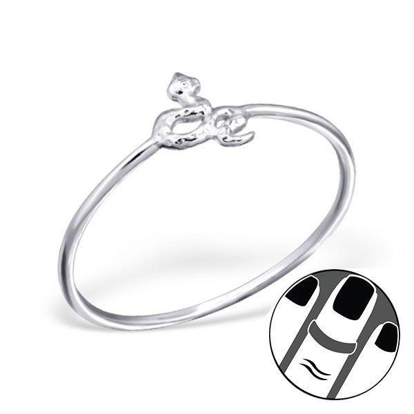 925 Sterling Silver Midi Ring Cute Snake Design US Size 3.5 Fine Body Jewellery