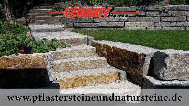 Grau-gelbe Granit-Mauersteine, Granit-Quader, Naturstein aus Polen... Polengranit...  www.pflastersteineundnatursteine.de