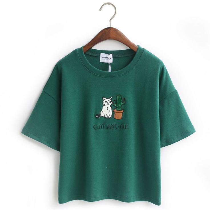 >> Click to Buy << 2017 new arrival summer style casual women cotton t-shirt Janpense style cropped tops emoji harajuku shirt camiseta feminina #Affiliate
