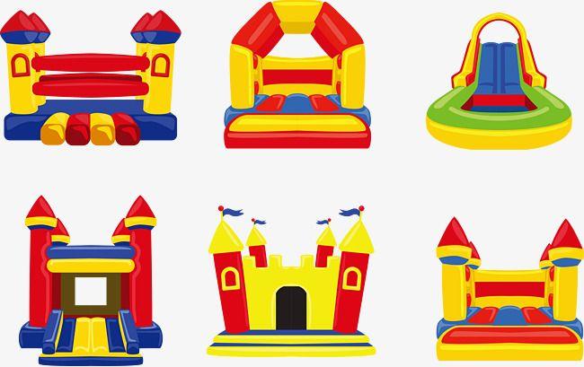 Warm Cute Children S Inflatable Amusement Park Vector Lovely Child Play Png Transparent Clipart Image And Psd File For Free Download Amusement Park Amusement Cute Kids