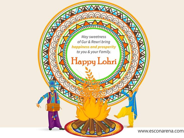 Let the Vibrance & color of #Lohri brighten up your life #EsconArena wishes you a Happy Lohri