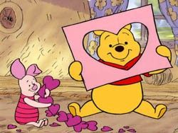 valentine's day images with winnie the pooh   Free Piglet Themes - All Piglet Desktop Enhancements