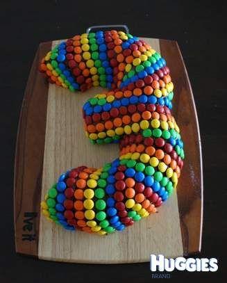 Sjokoladekake med tall