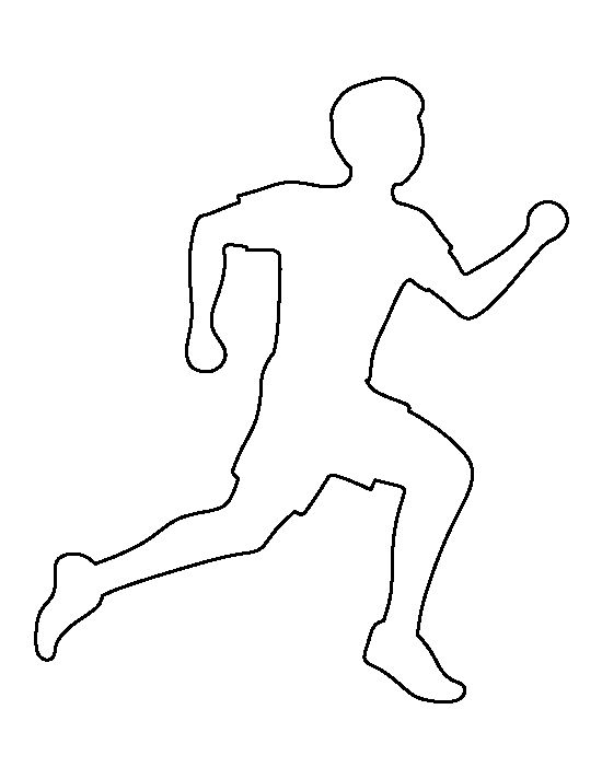 Running man pattern. Use the printable outline for crafts, creating stencils, scrapbooking, and more. Free PDF template to download and print at http://patternuniverse.com/download/running-man-pattern/