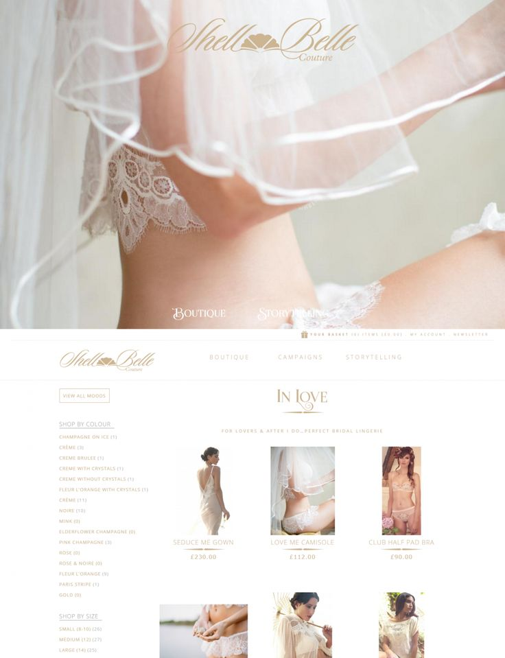 Magento Ecommerce Website for Shell Belle Couture, Cornwall