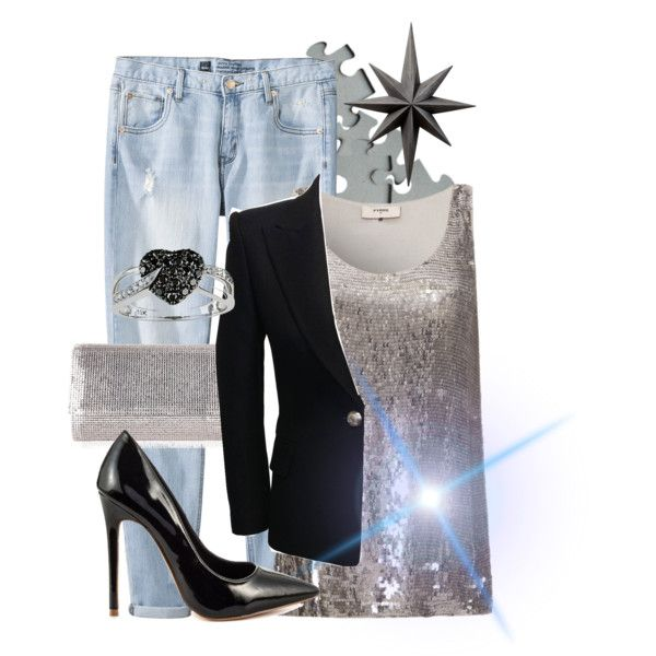 """Silver"" by gelykou on Polyvore"
