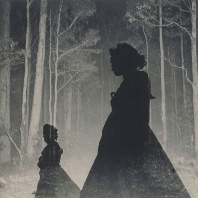 Women silhouettes and trees by Max Dupain