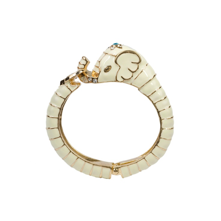 Robert Rose Hinged Elephant Bracelet @ little Black Bag // it's not something I could ever see making but I like it.