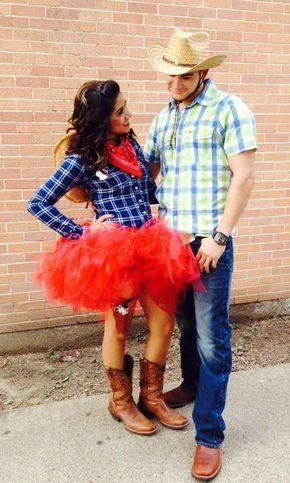 Ein Faschingskostum Fur Paare Cowboy Und Cowgirl Sewing
