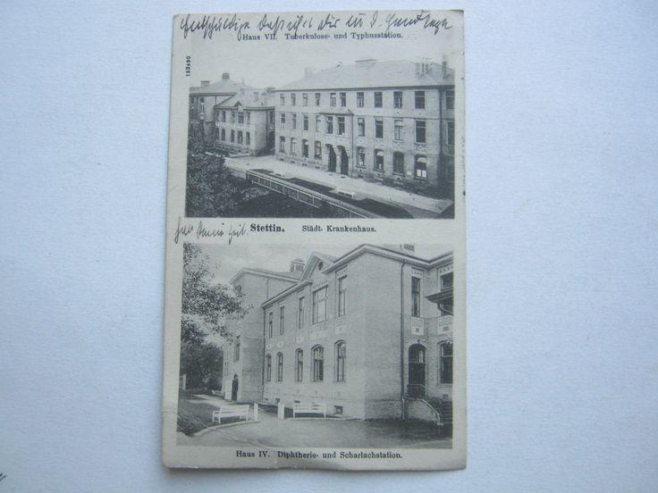 Stettin , Krankenhaus , Schöne Karte 1912 mit Poststempel Pommerensdorf | eBay