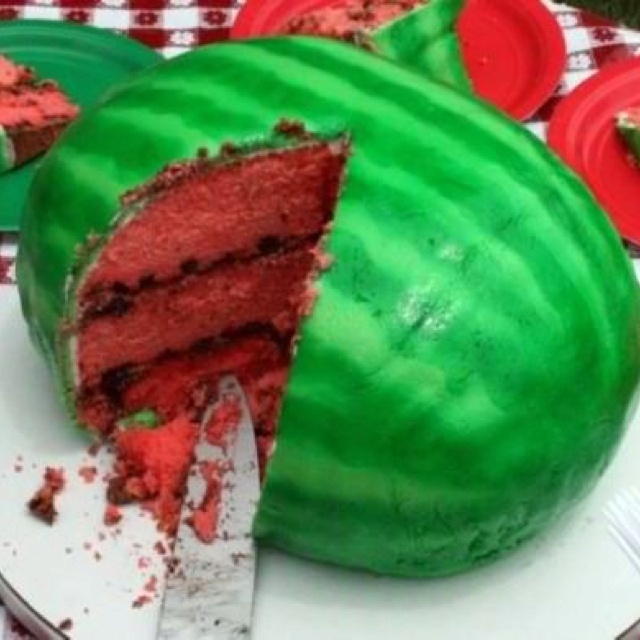 ... Cakes, Watermeloncak, Cool Ideas, Watermelon Cakes, Summer Cakes