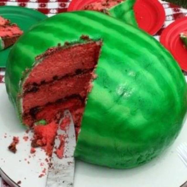 ... Cakes, Watermeloncak, Cool Ideas, Watermelon Cakes, Summer Cakes