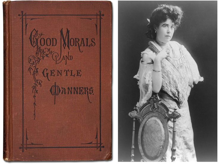 "Etiquette book owned by Margaret ""Molly"" Brown, 1901  Courtesy Brian, Maria, and Alexander Green"