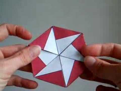 How to Make a Trihexaflexagon by dutchpapergirl Flexagons are flat models made