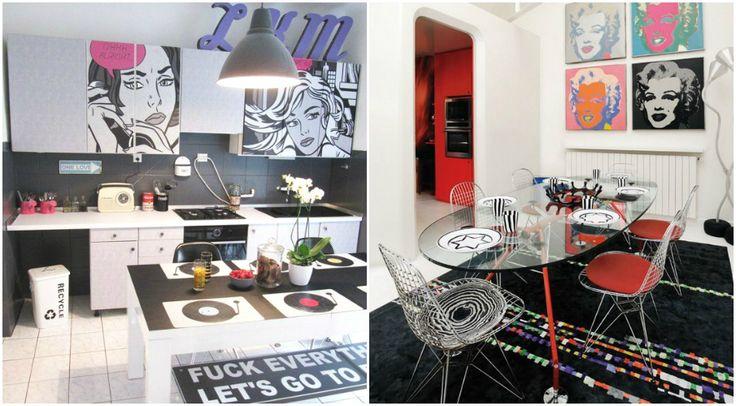 Кухня и столовая в стиле поп-арт #interior #мебель #дизайн #интерьер #дом #уют #декор