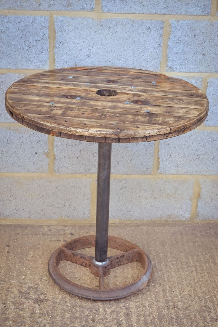 upcycled cable reel poseur bar table by brunswickvintage. Black Bedroom Furniture Sets. Home Design Ideas