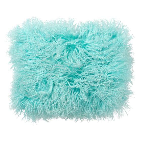 Mongolian Fur Pillow Cover, Pool
