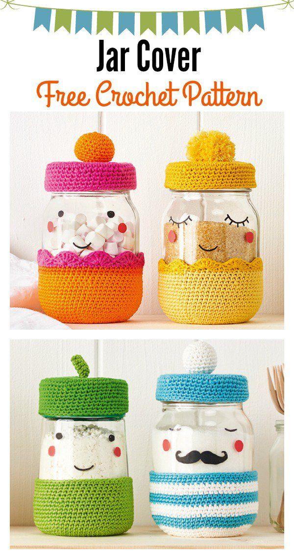 Jar Cover Free Crochet Pattern